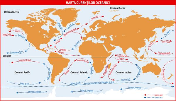 Harta curentilor oceanici
