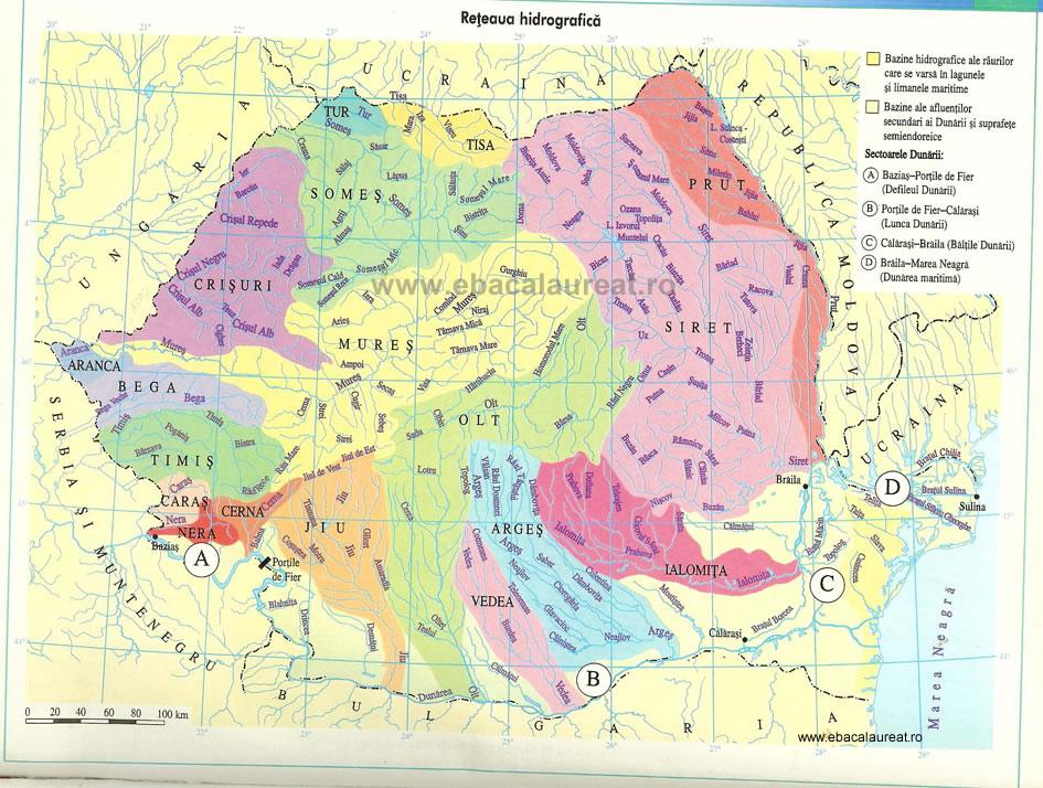 Tipurile de regim hidrologic din Romania