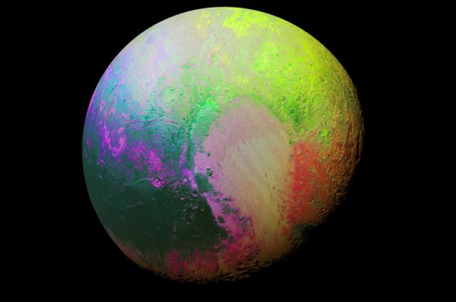 Imaginea psihedelica a lui Pluto