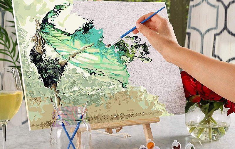pictura pe numere de la pictorul fericit